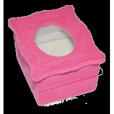 """1066 Футляр """"зеркало"""" розовый универсальная прорезь"""
