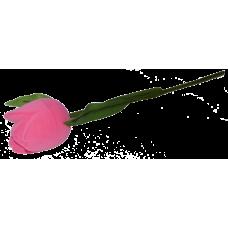 """1205 Футляр """"тюльпан на стебле"""" розовый универсальная прорезь"""