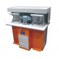 Шлифовальный станок двухместный напольный 112х64х120
