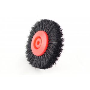 Щётка красная широкая волосяная на пластиковой основе
