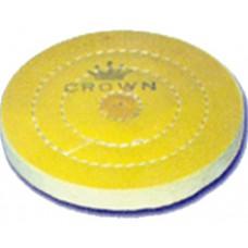 Круг муслиновый   жёлтый 6х40