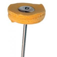 Крацовка муслина на держателе жёлтая диаметр 22 мм