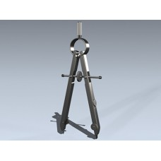 Циркуль длина 120 мм длина ножек 75мм