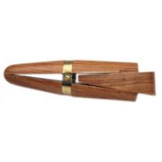 Тиса деревянные клиновые с кожаными накладками 150мм