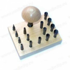 Обжимки для кастов с цанговой ручкой на подставке (1-8 мм, 15 шт.)