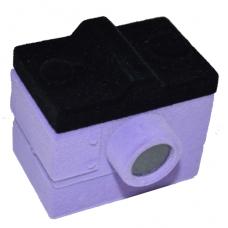 """1400 Футляр """"фотоаппарат"""" фиолетовый универсальная прорезь"""