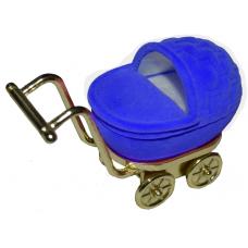 """1406 Футляр """"коляска"""" синий универсальная прорезь"""