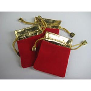 1803 Мешок красный с золотом 6х8 см
