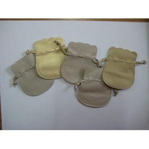 1809 Мешок кожаный цветной (плоский) 6х7 см